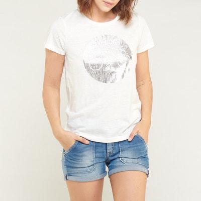 T-shirt col rond imprimé poitrine Kalogo LE TEMPS DES CERISES e45fa72e67e