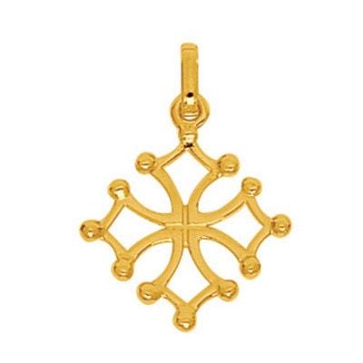 Pendentif Croix du Languedoc Or Jaune 750 000 SO CHIC BIJOUX 9a67c3e2182