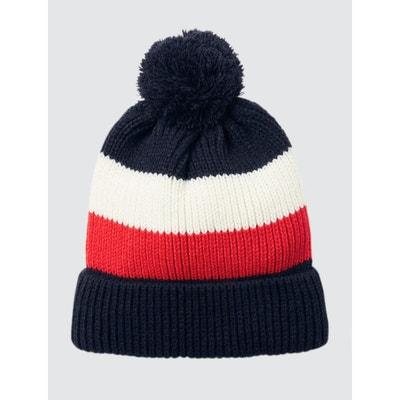 4f51c1223ec5 Bonnet tricot bleu blanc rouge BIZZBEE