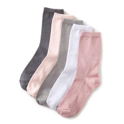 202472a951bdb Mi-chaussettes unies (lot de 5) Mi-chaussettes unies (lot de
