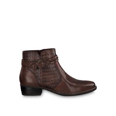 boots femme marron foncé