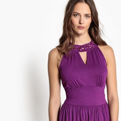 8f434aa6c76 Robe violette courte