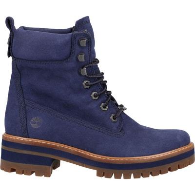 bottines timberland femme bleue