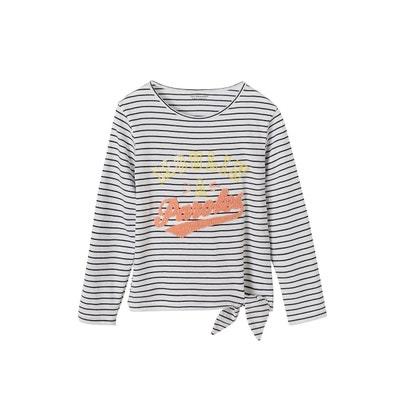 dc948cbafebfd T-shirt fille à message fun en bouclettes et sequins VERTBAUDET