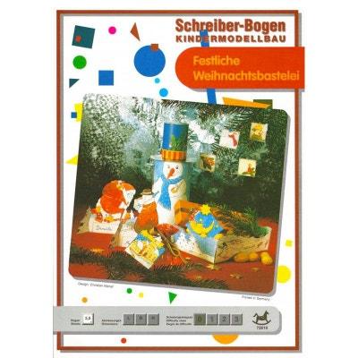 Maquette en carton pour enfants : Bricolage de fête de Noël Maquette en carton pour enfants : Bricolage de fête de Noël SCHREIBER-BOGEN