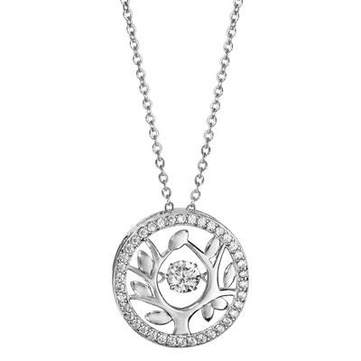 f22b8506d67fb Collier Réglable: 42 à 45 cm Pendentif Rond Arbre de Vie Argent 925 SO CHIC