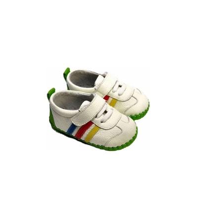 66a4492b35654 Chaussures premiers pas cuir souple baskets FREYCOO