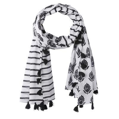 Foulard imprimé noir et blanc Foulard imprimé noir et blanc LA REDOUTE  COLLECTIONS 1c3d8119fd5