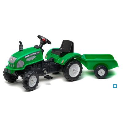Tracteur à pédales Farm Master vert avec remorque - FAL2047A Tracteur à  pédales Farm Master vert. FALK 548769520528