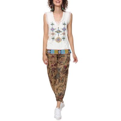 T-shirt Martine fantasia voile maniche e scollo a V T-shirt Martine  fantasia. Nuova collezione. DESIGUAL 2a7c422bb00
