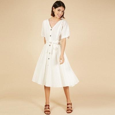 dcb5da6e5 Robe blanche mi longue | La Redoute