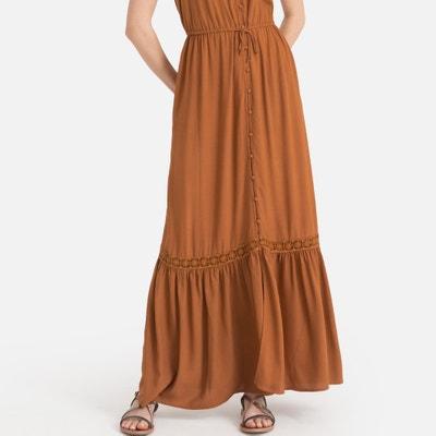 d349904e50e4c3 Lange maxi jurk met smalle bandjes Lange maxi jurk met smalle bandjes LA  REDOUTE COLLECTIONS
