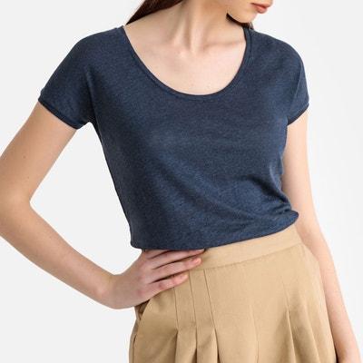 9b564f285e712 T-shirt en lin col rond T-shirt en lin col rond LA REDOUTE