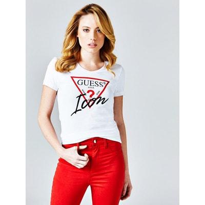 T Guess Solde Redoute La En Femme Shirt SwSqTfg