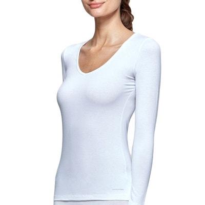 3519fe3e06b72 Tricot de peau col V manches longues innovation pour femme régulateur de  température IMPETUS INNOVATION