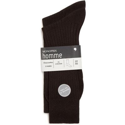 94c3a6bc5c6 Lot de 2 paires de chaussettes en fil d écosse pur coton MONOPRIX HOMME