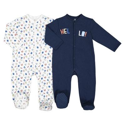 Lot de 2 pyjamas pur coton, Préma-2 ans LA REDOUTE COLLECTIONS 39ac8d13646