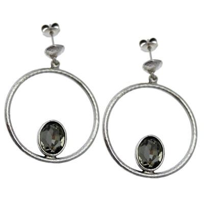 7611dcfb730 Boucles d oreilles type clou rond pendant strass collection MADONNE Boucles  d oreilles type