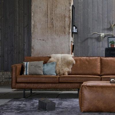 Canape cuir vieilli marron | La Redoute