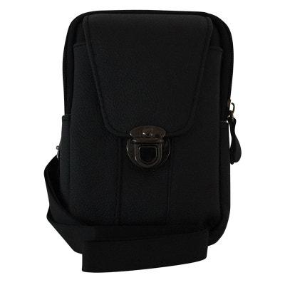 5beb167daf Sacoche ceinture cuir noire Sacoche ceinture cuir noire CHAPEAU-TENDANCE