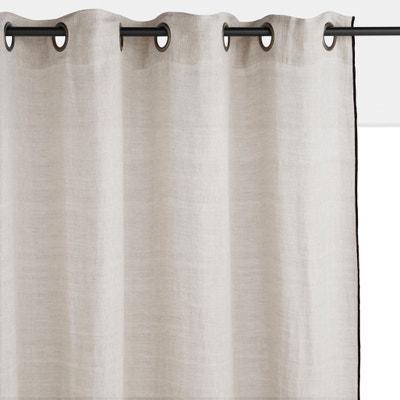 rideaux lin la redoute. Black Bedroom Furniture Sets. Home Design Ideas