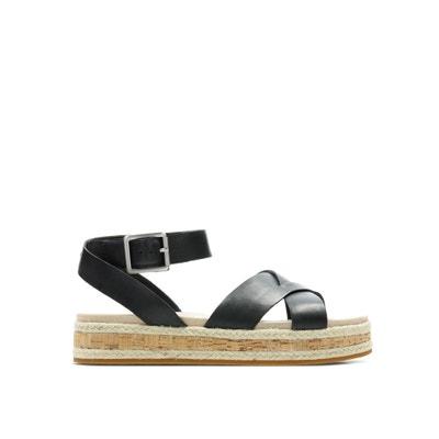 59a1687bdf343e Botanic Poppy 2 Leather Sandals CLARKS