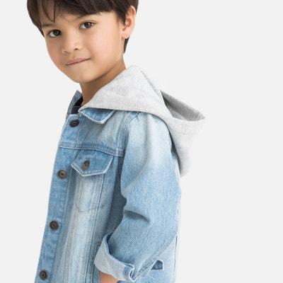 3d35c0c590011 Куртка джинсовая с капюшоном из джерси, 3-12 лет Куртка джинсовая с  капюшоном из
