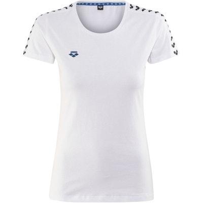 a3408979d7 Team - T-shirt manches courtes Femme - blanc Team - T-shirt manches
