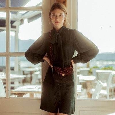 Korte jurk met lavallière en lange mouwen Korte jurk met lavallière en lange mouwen LA REDOUTE COLLECTIONS