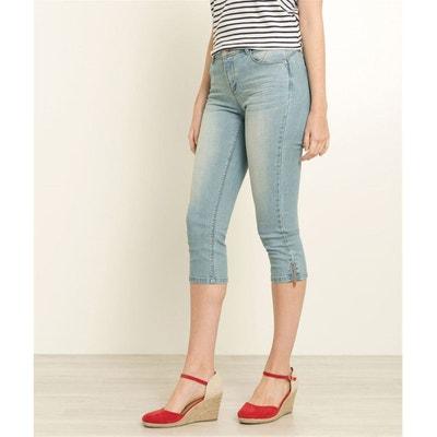 Corsaire en jean avec zip Corsaire en jean avec zip GRAIN DE MALICE 44c3d686ac0