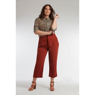 0a09ac13582 Pantalon coupe ample avec ceinture MS MODE
