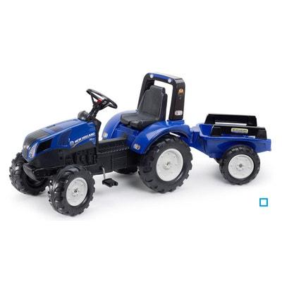 Tracteur à pédales New Holland avec remorque - FAL3090B Tracteur à pédales  New Holland avec remorque. FALK 944dab76633f