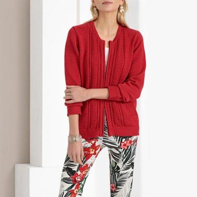 03019d6bdf Chunky Knit Zip-Up Cardigan ANNE WEYBURN