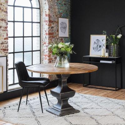 Chaise Design Cuir Naturel Noir