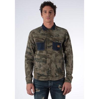 Veste en jean camouflage kaki JACK Veste en jean camouflage kaki JACK  KAPORAL fe46f092df9