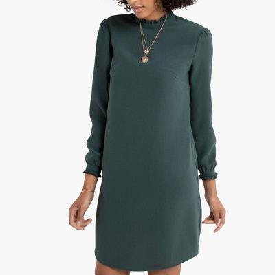 meilleurs tissus handicaps structurels double coupon Robe courte verte | La Redoute