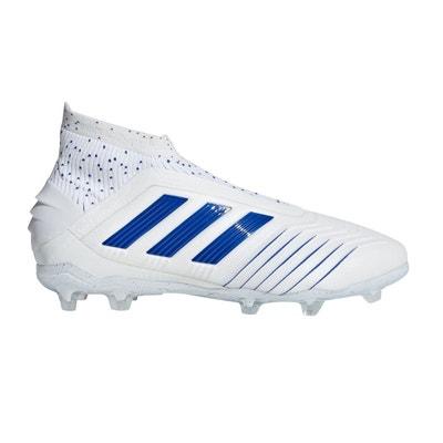 quality design 007d1 99fa1 Chaussures football adidas Predator 19+ FG Blanc Bleu Junior Chaussures  football adidas Predator 19