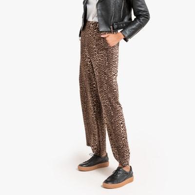 Soepele wijde broek met luipaardprint Soepele wijde broek met luipaardprint LA REDOUTE COLLECTIONS
