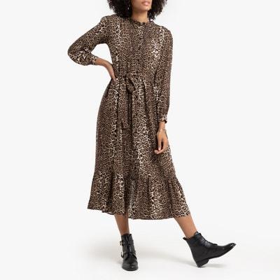 Lange jurk met luipaardprint Lange jurk met luipaardprint LA REDOUTE COLLECTIONS