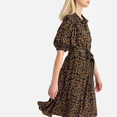 Robe-chemise, imprimé léopard, avec ceinture Robe-chemise, imprimé léopard, 46f21f33940b