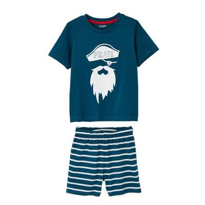 b1f4709f93bd0 Lot de 2 pyjashorts garçon combinables VERTBAUDET