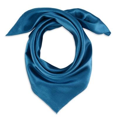 cb89226de966 Foulard carré Eazy Bleu pétrole ALLEE DU FOULARD