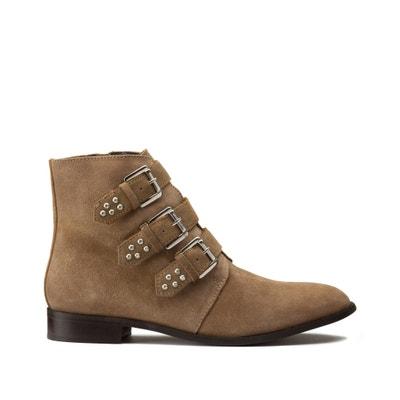 Leren boots  met bandjes met studs Leren boots  met bandjes met studs LA REDOUTE COLLECTIONS PLUS