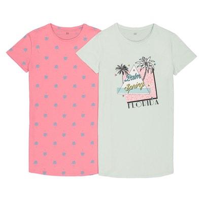 2588cd796ffc7 Lot de 2 big t-shirts pur coton 10-16 ans Lot de 2