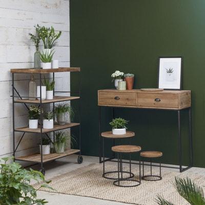 Meuble salon bois et métal   La Redoute