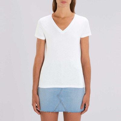 b371a3fd15 Tee shirt manches courtes col V coton bio Tulum Tee shirt manches courtes  col V coton