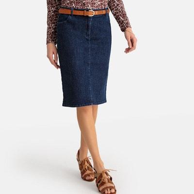 Jupe jean couleur femme | La Redoute
