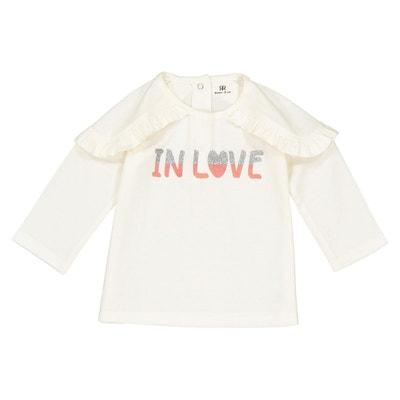 1c0da92741a6c T-shirt manches longues à volants 1 mois - 3 ans LA REDOUTE COLLECTIONS