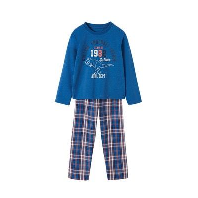51f35f0144585 Pyjama garçon bi-matière VERTBAUDET