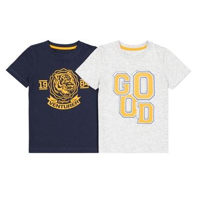 Lot de 2 t-shirt manches courtes 3-12 ans Lot de 2 t 6163622c370
